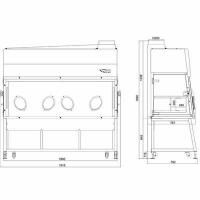 Перчаточные боксы БАВнп-01-«Ламинар-С.»-1,8 «ISOLATOR